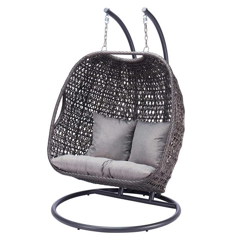 TUSCANY DELUXE DOUBLE HANGING EGG CHAIR BUY ONLINE NOW TO SECURE YOUR PURCHASE. THIS PRODUCT WAS IN HIGH DEMAND LAST YEAR. AVAILABLE FOR DELIVERY OF COLLECTION FROM APRIL 2021
