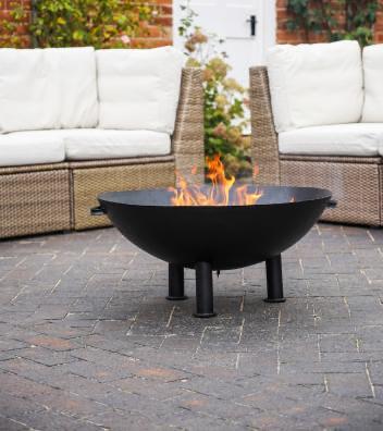 Ivyline Heritage Fire Bowl Black