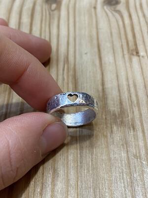 Fedina alluminio con cuore
