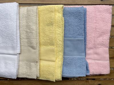 Asciugamano e Ospite da Ricamo Tinta Unita