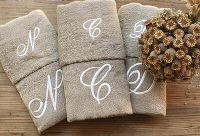 Asciugamano e Ospite con Iniziali