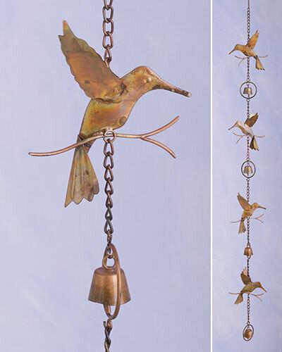 Ancient Graf Hummingbird and Bells Rain Chain BFG2019