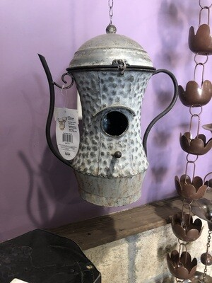 ALPINE METAL TEA POT BIRDHOUSE-BFG 2020