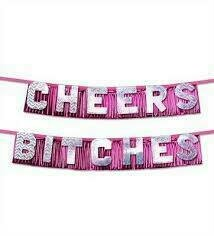 BACHELORETTE CHEERS BITCH PARTY BANNER