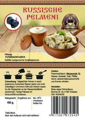 Pelmeni mit Putenhackfleisch