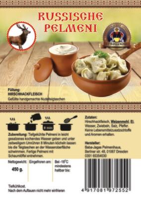 Pelmeni mit Hirschhackfleisch