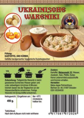 Wareniki mit Kartoffeln und Kürbis