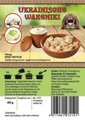 Wareniki mit Kraut und Pilzen