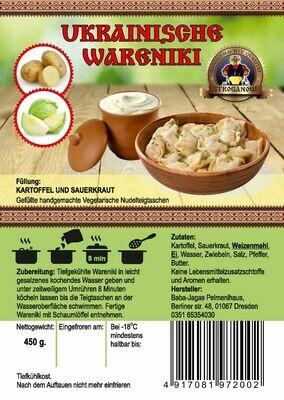 Wareniki mit Kartoffeln und Kraut