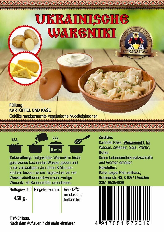 Wareniki mit Kartoffeln und Käse