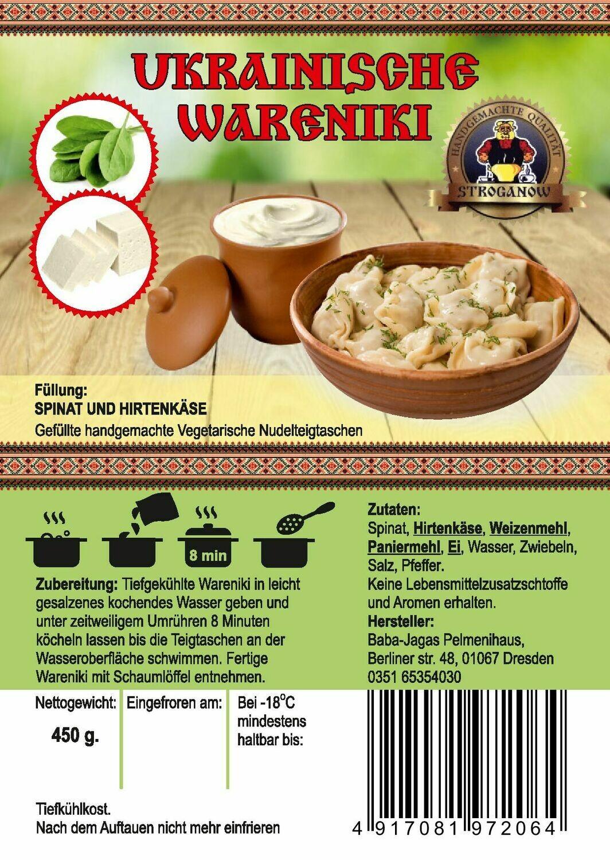 Wareniki mit Spinat und Hirtenkäse