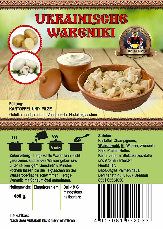 Wareniki mit Kartoffeln und Pilzen