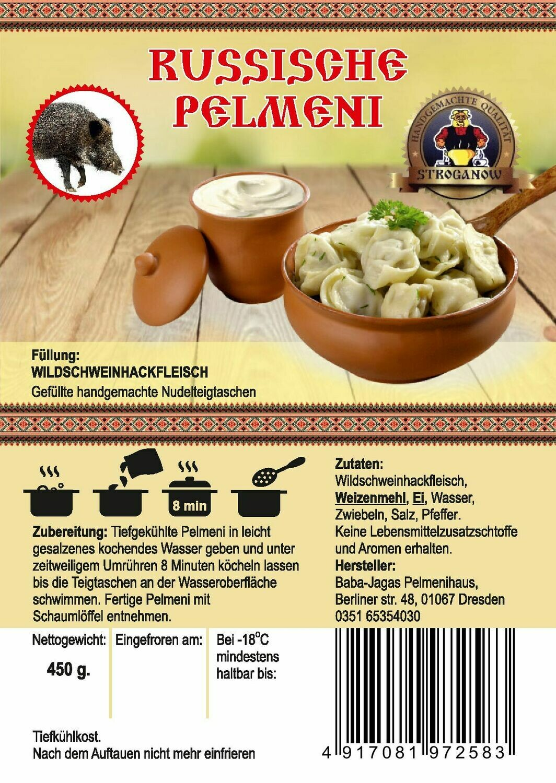Pelmeni mit Wildschweinhackfleisch