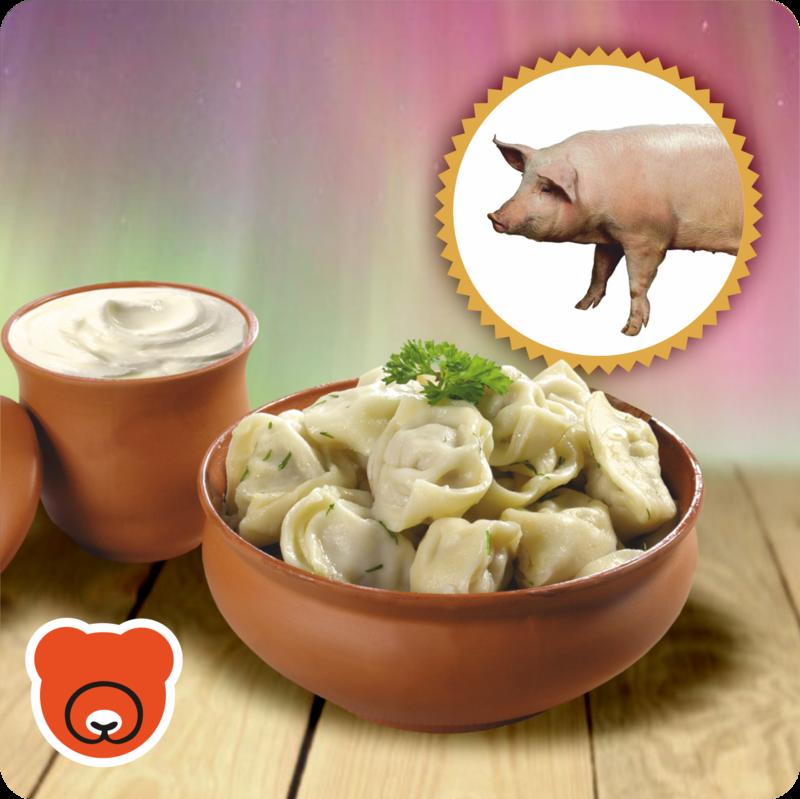 Pelmeni mit Schweinhackfleisch