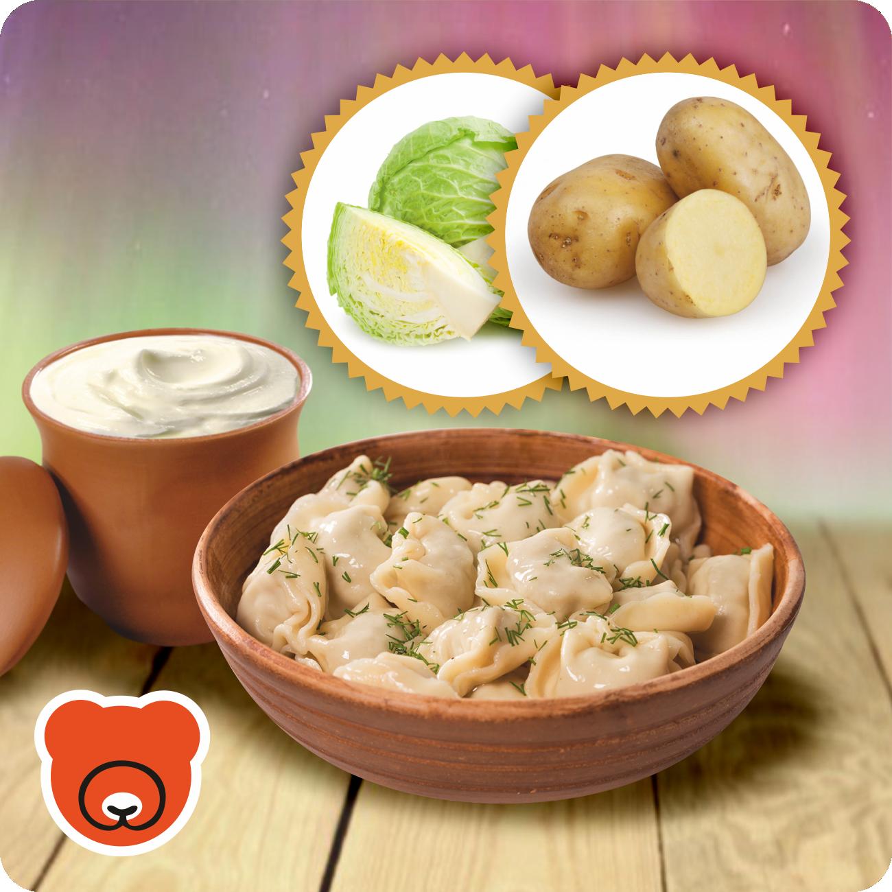 Wareniki mit Kartoffel und Sauerkraut