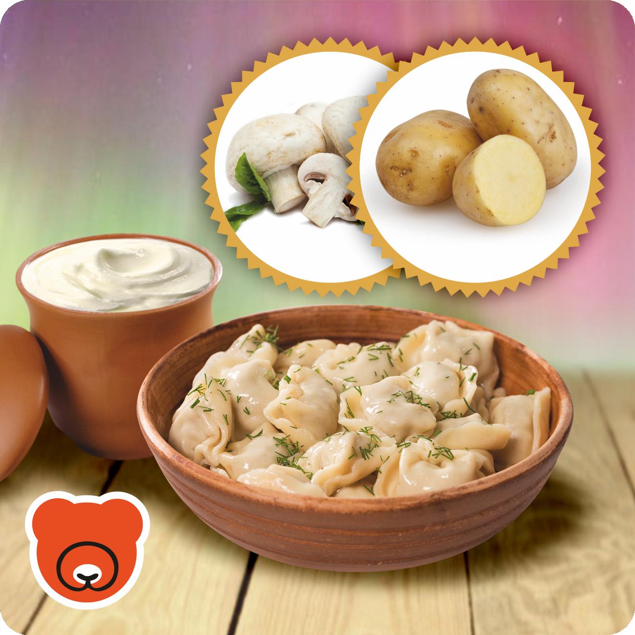 Wareniki mit Kartoffel und Pilze
