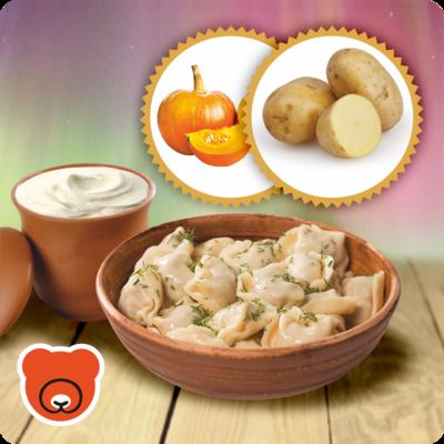 Wareniki mit Kartoffel und Kürbis