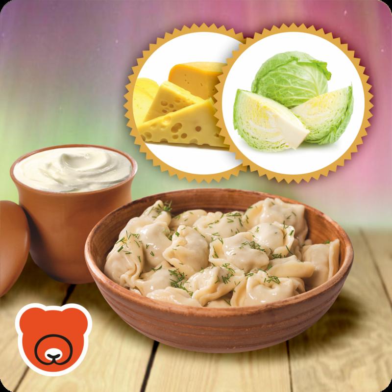 Wareniki mit Kraut und Käse