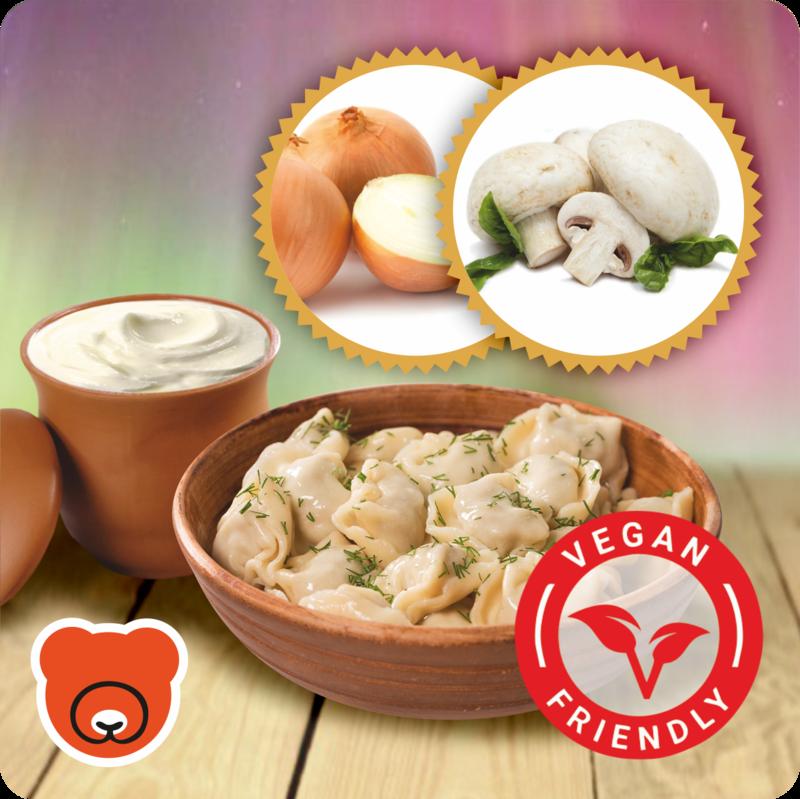 Wareniki mit Pilze und Zwiebel nach Vegan Art