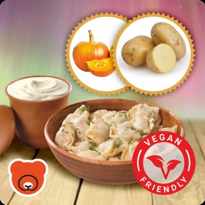 Wareniki mit Kartoffel und Kürbis nach Vegan Art