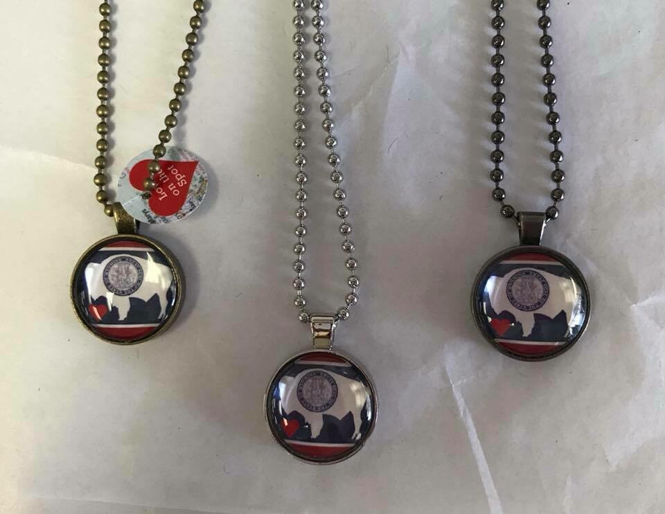 Wyo Flag necklaces