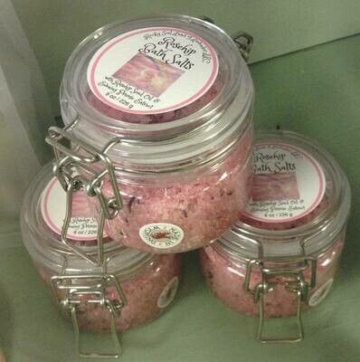 Land of Lavender/Rose Hip Bath Salts 8 oz.