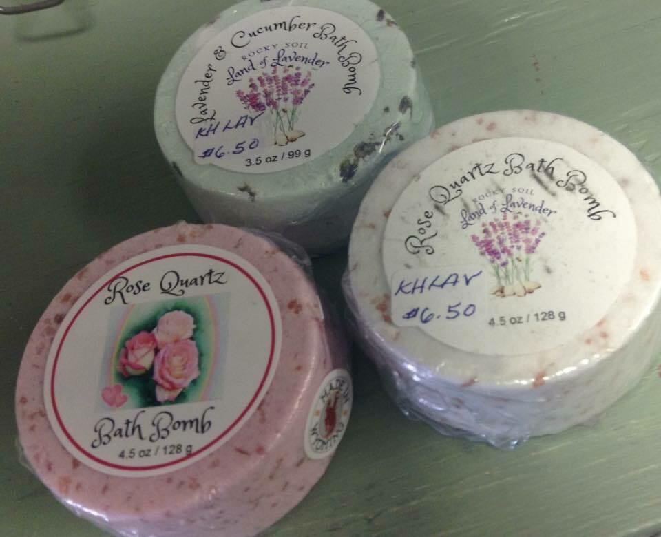 Land of Lavender/Rose Quartz/Lavender Cucumber Bath Bomb  & Lavender and Rose 3.5 oz.