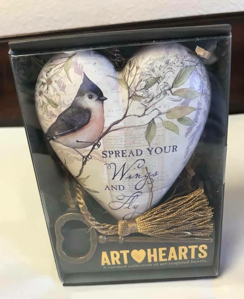 Home decor/art heart/Spread your wings/art heart Decor