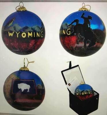 Wyoming Glass Ornament