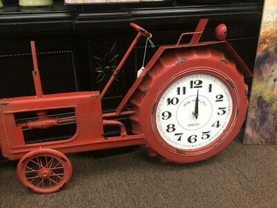 Home decor/Large Red Tractor Clock