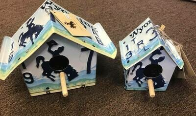 Wyoming made/small license plate bird house