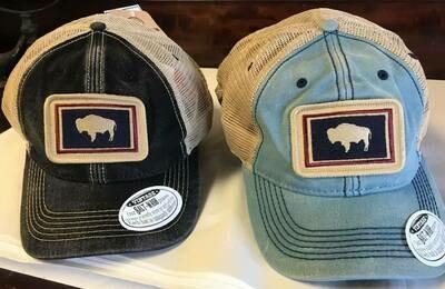 Hat/Black Wyo. Flag Trucker Hat