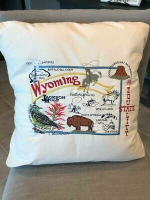 Wyoming/ Hand Sewn Pillow