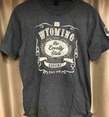 Wyoming/Equality State Tee Shirt Size. Small-XXL