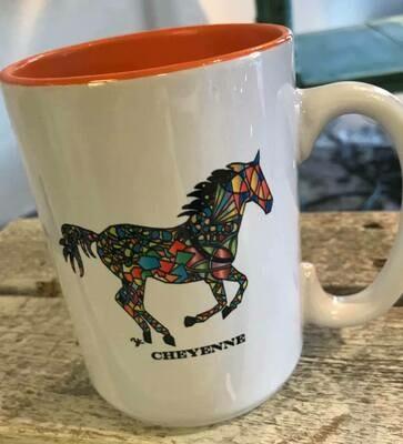 Drinkware/Wyoming horse mug