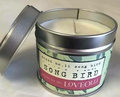 Candle/Loveolli tin/song bird candle