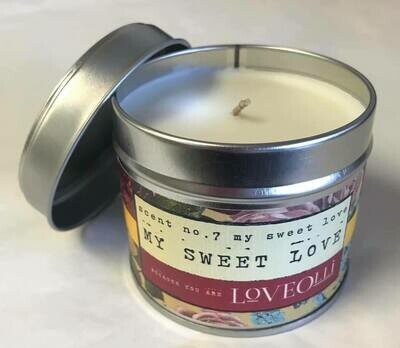Candle/Loveolli tin/My sweet love candle