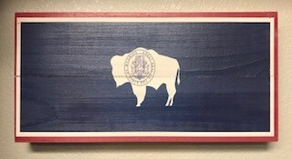 Home Decor/wall art/Wyo Flag sign 14x7