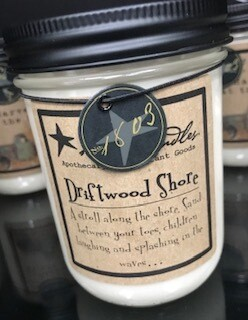 Candle/1803/14 oz.//driftwood shore