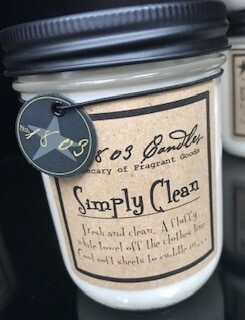 Candle/1803/14 oz./simply clean