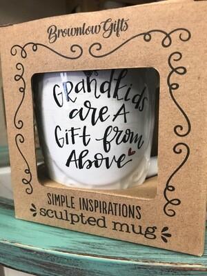 Drinkware/inspirational mug/grandkids are a gift from above mug