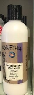Windrift Hill/goats milk lotion/relaxing scent
