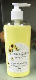 Land of lavender/large sunflower lotion 8 oz.