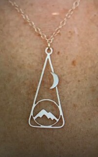 Jewelry/Made of Mountains/Moon over Mountain/Gold