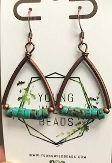 Earring/Handmade/Wyoming Made Turquoise