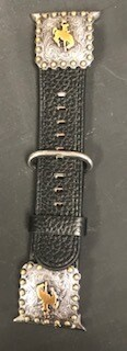 Watch/Black concho Apple Watch band