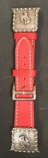 Watch/Red concho Apple Watch band