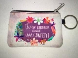 Coin & ID purse/keychain/throw kindness around