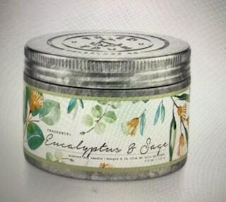 Tried & True/ 4 oz. Eucalyptus & Sage tin candle