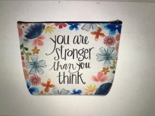 Make up bag/You are stronger than you think/
